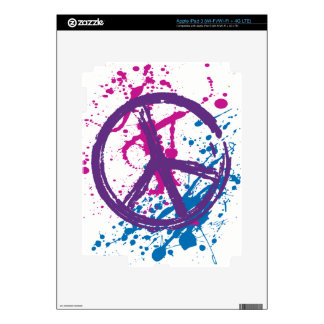 Paint Splatter Peace Sign Skins For iPad 3