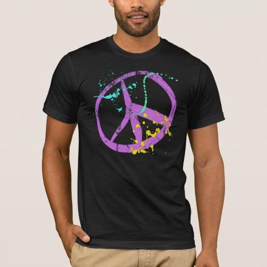 Paint Splatter Peace Sign T-Shirt