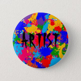 Paint Splatter Pinback Button