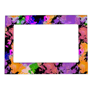 Paint Splatter Print Magnetic Fridge Photo Frame