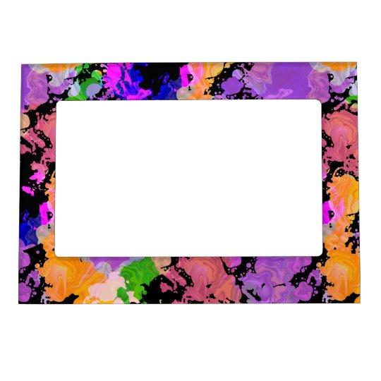 Paint Splatter Print Magnetic Fridge Photo Frame Zazzle