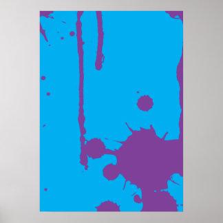 Paint Splatter purple Poster