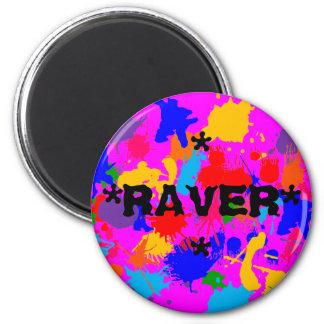 Paint Splatter Raver Magnet