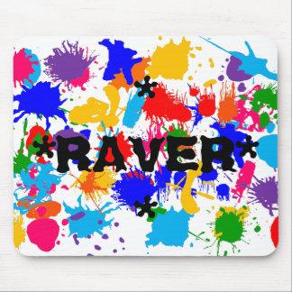 Paint Splatter Raver Mouse Pad