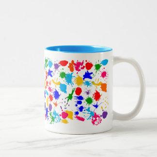 Paint Splatter Raver Mugs
