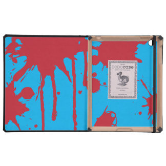 Paint Splatter Red Cases For iPad