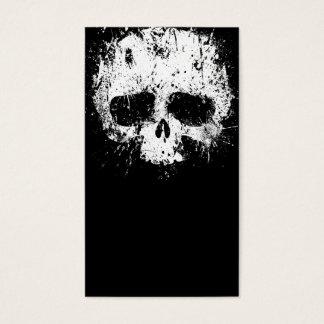Paint Splatter Skull Business Card