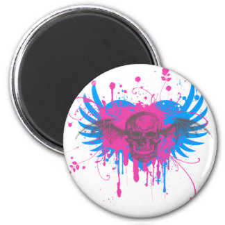 Paint Splatter Skull Graphic Magnet
