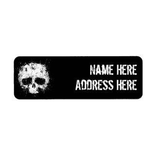 Paint Splatter Skull Return Address Label