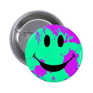 Paint Splatter Smiley Face Button