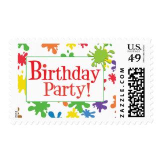 Paint Splatter Stamp