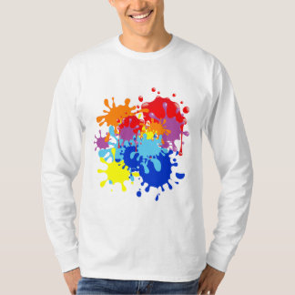 paint splatter t shirts shirt designs zazzle