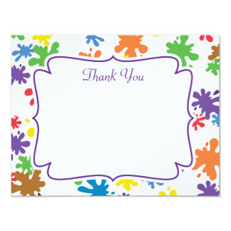 Paint Splatter Thank You Card
