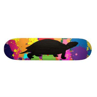 Paint Splatter Turtle Skateboard