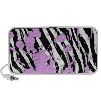 Paint Splatter - Zebra Travelling Speakers