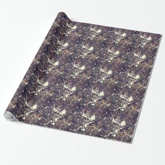 Paint Splattered Asphalt Gift Wrap