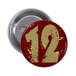 PAINT SPLATTERED NUMBER 12 BUTTON