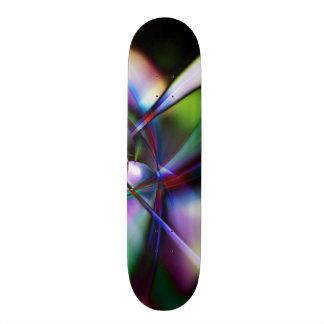 Paint Splattered Swooshes Funky Fractal Effect Skateboard Deck