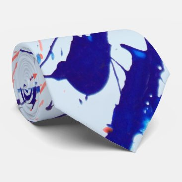 Beach Themed Paint Splatters 2 Tie