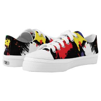 Paint splatters. Artist canvas shoes