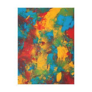 Paint Splatters by Kari Sutyla Stretched Canvas Prints