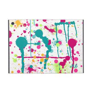 Paint Splatters Custom Initials iPad Mini Cover