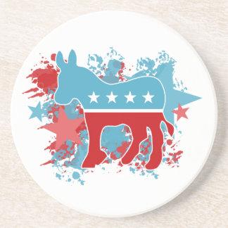 Paint Splatters Democrat Donkey Coaster