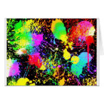 Paint splatters greeting cards