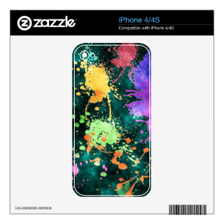 PAINT SPLATTERS iPhone Case Decal For The iPhone 4S
