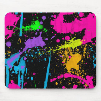 Paint Splatters Mouse Pad