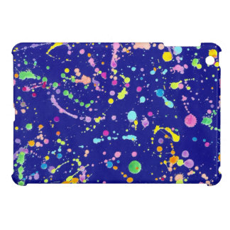 Paint Splatters on Blue iPad Mini Case
