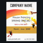 """Paint Splatters Painter House Painting Maintenance Flyer<br><div class=""""desc"""">Professional business sale marketing  advertising flyers with artist &amp; painter paint brush  and dripping paint . A cute  original flyer design  for house  painters contractors,  artists,   paint stores and other house repair professional affiliations.</div>"""