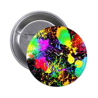 Paint splatters pinback button