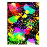 Paint splatters postcard