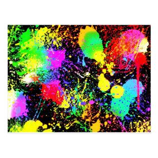 Paint splatters postcards