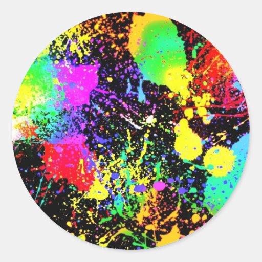 Paint splatters stickers