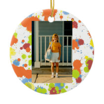 Paint Splotches First Day of School All Occasion Ceramic Ornament