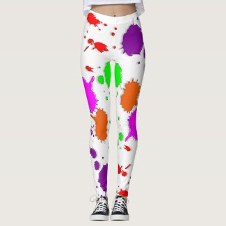 Paint Splotches Leggings
