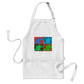Paint Splotches Red Blue Green Art Adult Apron