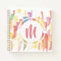 Paint Stained Monogram Sketchbook Notebook