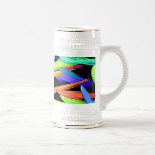 Paint Streaks In A Rainbow Of Colors Beer Stein