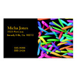 Paint Streaks In A Rainbow Of Colors Double-Sided Standard Business Cards (Pack Of 100)