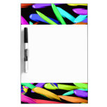Paint Streaks In A Rainbow Of Colors Dry Erase Boards