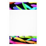 Paint Streaks In A Rainbow Of Colors Personalized Stationery