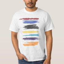 Paint Strokes Artistic Abstract Color (distressed) T-Shirt