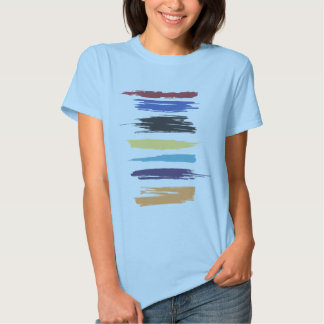 Paint Strokes Artistic Abstract Color Streaks Tee Shirt