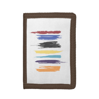 Paint Strokes Artistic Abstract Color Streaks Trifold Wallet