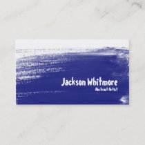 Paint Strokes - Blue Business Card