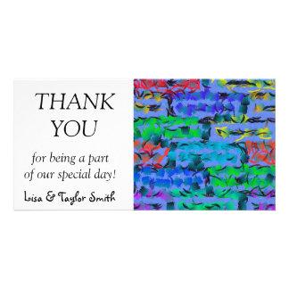 Paint strokes card