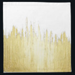 """Paint Strokes in Faux Gold Cloth Napkin<br><div class=""""desc"""">This faux gold paint strokes on customizable background (just hit &quot;customize it&quot; and then choose a background color) is great for the trendy and stylish individual. It&#39;s upscale and swanky feel is great for any occasion or gift.</div>"""